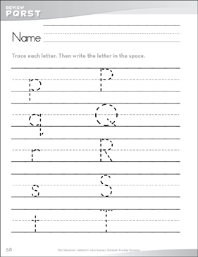 Letters Pp-Tt Review: Send-Home Pages - Printable Worksheet