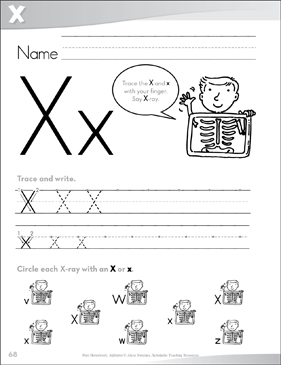 Letter Xx: Send-Home Pages - Printable Worksheet