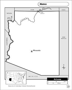 photo regarding Printable Arizona Map identify Map of Arizona Printable Maps