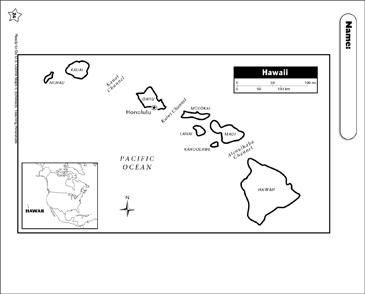 image relating to Printable Maps of Hawaii called Map of Hawaii Printable Maps