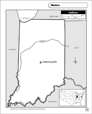 image relating to Printable Map of Indiana identified as Map of Indiana Printable Maps