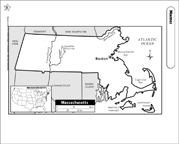 photograph about Printable Map of Massachusetts known as Map of Machusetts Printable Maps