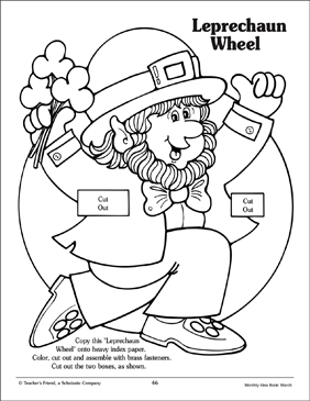 photograph relating to Leprechaun Cut Out Printable named Leprechaun Potential Wheel: St. Patricks Working day Printable Expertise