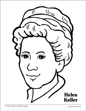 Helen Keller Portrait Pattern