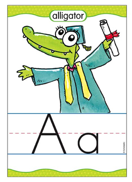 Aa is for Alligator - Image Clip Art