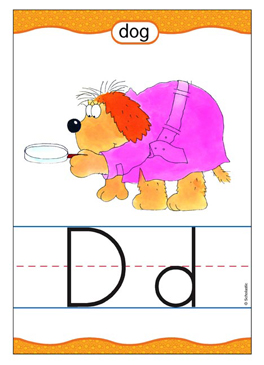Dd is for Dog - Image Clip Art