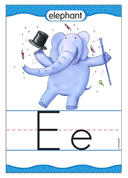 Ee is for Elephant - Image Clip Art