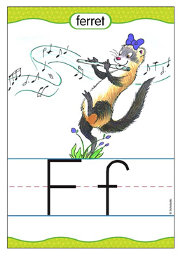 Ff is for Ferret - Image Clip Art