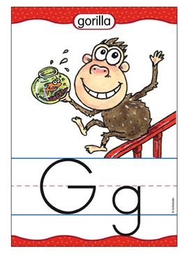 Gg is for Gorilla - Image Clip Art