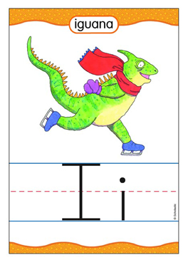 Ii is for Iguana - Image Clip Art
