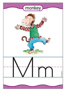 Mm is for Monkey - Image Clip Art