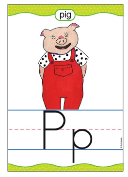 Pp is for Pig - Image Clip Art