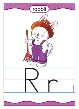 Rr is for Rabbit - Image Clip Art