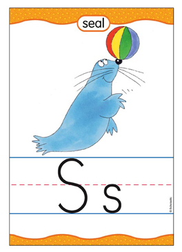 Ss is for Seal - Image Clip Art