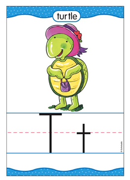 Tt is for Turtle - Image Clip Art