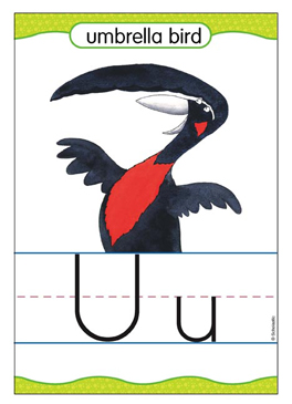 Uu is for Umbrella - Image Clip Art