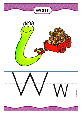 Ww is for Worm - Image Clip Art