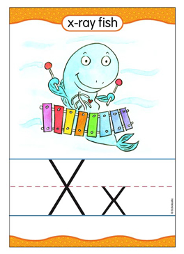 Xx is for X-ray Fish - Image Clip Art