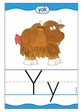 Yy is for Yak - Image Clip Art