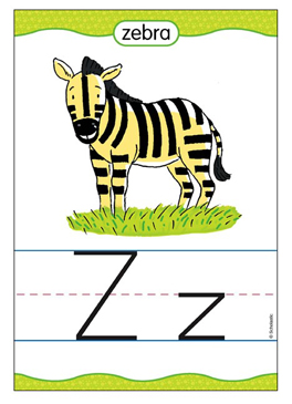 Zz is for Zebra - Image Clip Art