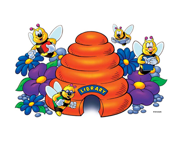 Bees in the Hive - Image Clip Art
