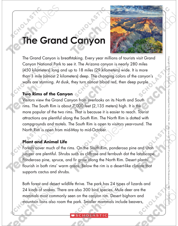 Grand Canyon Worksheets Worksheet Free Printable. See Inside Grand Canyon Worksheets At Mspartnersco. Worksheet. Grand Canyon Worksheets At Mspartners.co