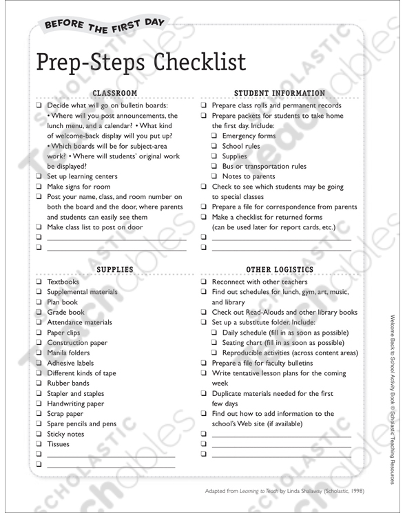 Back-to-School Prep Checklist: Before the First Day