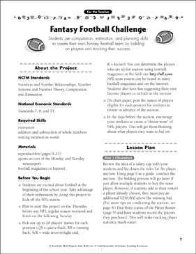 photograph about Fantasy Football Sheets Printable referred to as Myth Soccer Concern: Correct-Lifetime Math Undertaking