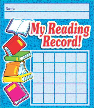 My Reading Record! Incentive Chart - Printable Worksheet