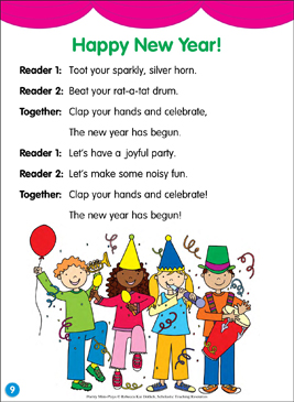 Happy New Year!: Poetry Mini-Play - Printable Worksheet