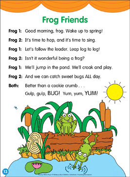 Frog Friends: Poetry Mini-Play - Printable Worksheet