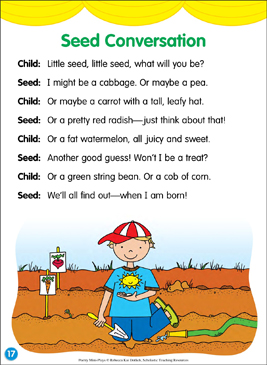 Seed Conversation: Poetry Mini-Play - Printable Worksheet