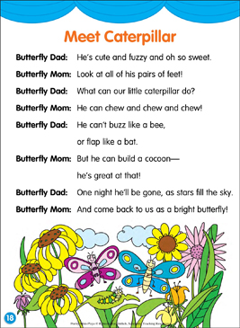 Meet Caterpillar: Poetry Mini-Play - Printable Worksheet