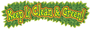Keep It Clean & Green! - Image Clip Art