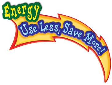 Energy: Use Less, Save More! - Image Clip Art