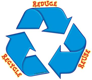 Reduce, Reuse, Recycle - Image Clip Art