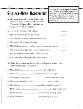 image relating to Subject Verb Agreement Quiz Printable called Matter-Verb Settlement: Grammar Train (Gr 5) Printable