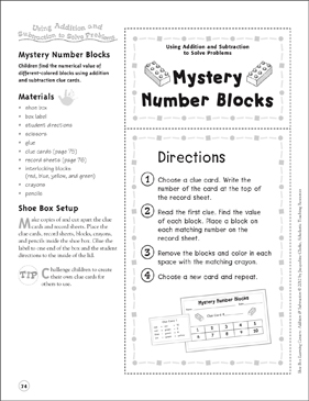 picture relating to Quick Solve Mysteries Printable referred to as Top secret Range Blocks (Utilizing Addition and Subtraction toward
