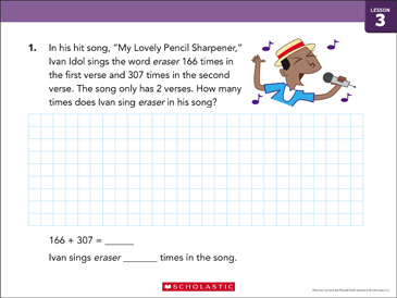 Addition Within 10,000: Bar Model Math - Printable Worksheet