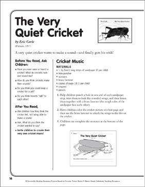 The Very Quiet Cricket by Eric Carle: A Reading-Response ...