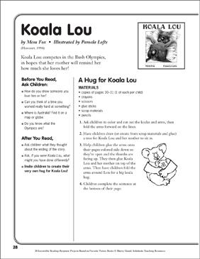 Koala Lou by Mem Fox: A Reading-Response Project ...