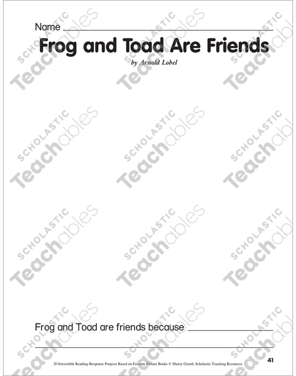 picture about Frog and Toad Are Friends Printable Activities called Frog and Toad Are Pals by way of Arnold Lobel: A Looking through