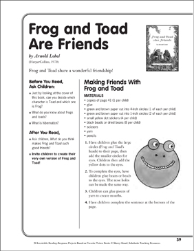 picture about Frog and Toad Are Friends Printable Activities known as Frog and Toad Are Close friends by means of Arnold Lobel: A Looking through