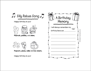image regarding Rebus Printable named Foolish Rebus Track/A Birthday Memory Printable Mini-Guides