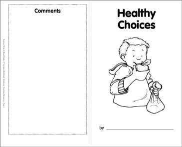 Healthy Choices - Printable Worksheet