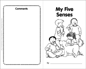 My Five Senses - Printable Worksheet