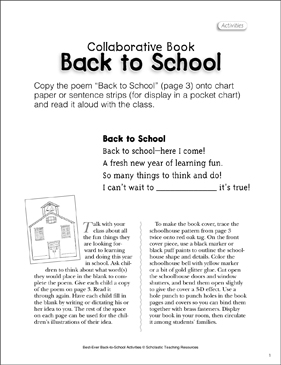 Back-to-School: First Day Activity - Printable Worksheet