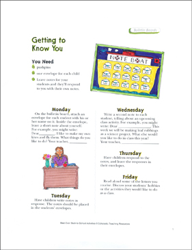 Getting to Know You: Back-to-School Idea - Printable Worksheet