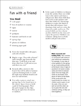 Fun With a Friend: Back-to-School Activity - Printable Worksheet