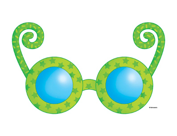 Green and Blue Glasses - Image Clip Art